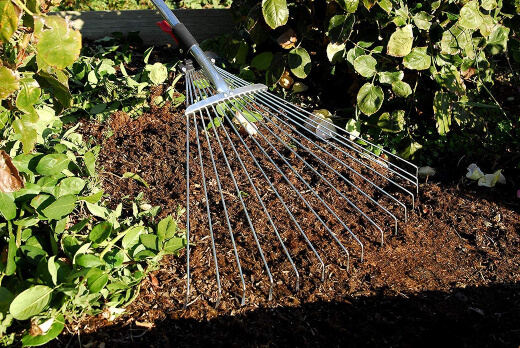 The most common use for garden rakes is to help move or level out soil