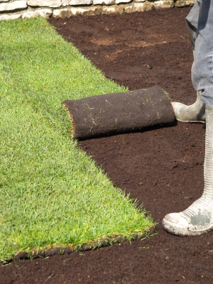Laying Turf and Reticulation