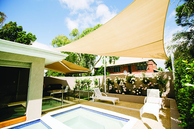 custom installation of shade sails