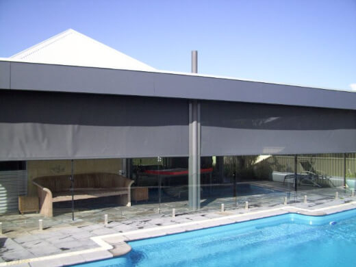 Ensure all outdoor blinds and folding arm awnings are rolled up or retracted at night