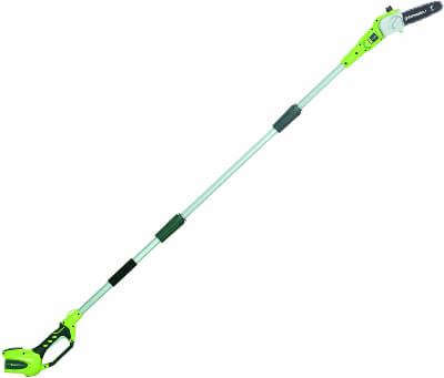 Green works 8.5' 40V Cordless Pole Saw, Battery Not Included 20302