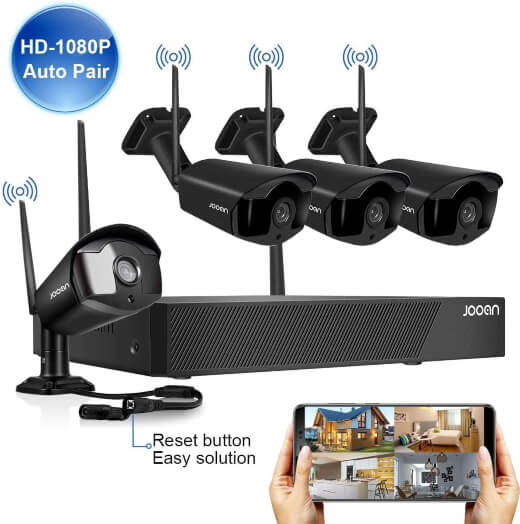 JOOAN Surveillance Camera, Wireless Security Camera System