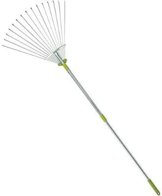MITOOLS 64-inch Adjustable Garden Leaf Rake