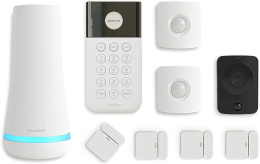 SimpliSafe 9 Piece Wireless Home Security System wHD Camera