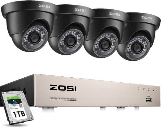 ZOSI H.265+ 8 Channel 1080p HD-TVI Security Camera System