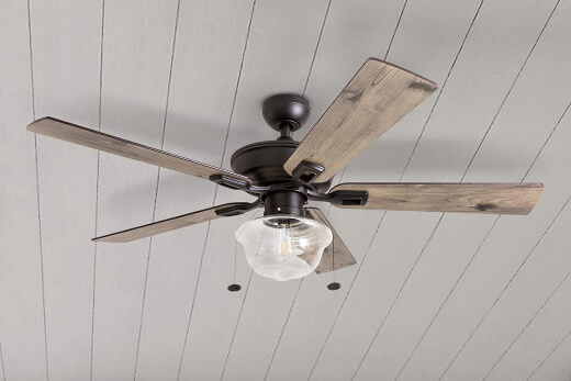 Installing a ceiling fan, won't only help to keep you cool but it's also a super effective way to getting rid of mosquitoes, flies and other bugs