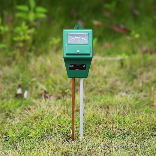 A soil moisture meter, or soil moisture sensor is a simple gardening tool that measures the volumetric water content within your soil