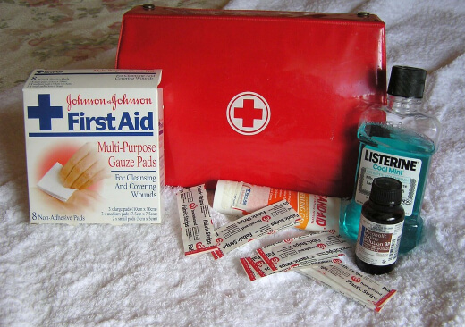It is recommended to keep a full equipped emergency kit in your 'safe room'.