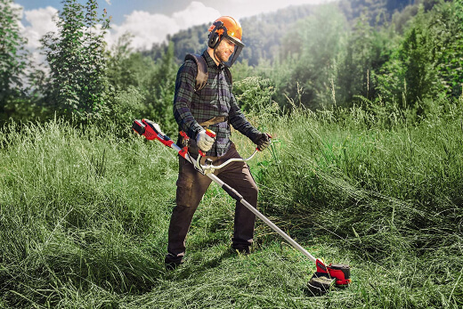 brush cutters can come with an attachment to trim large areas of grass that aren't accessible to your mower