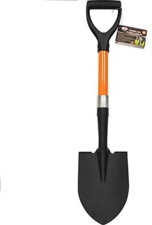 IIT 30200 28 Inches Garden Spade with D Fiberglass Handle