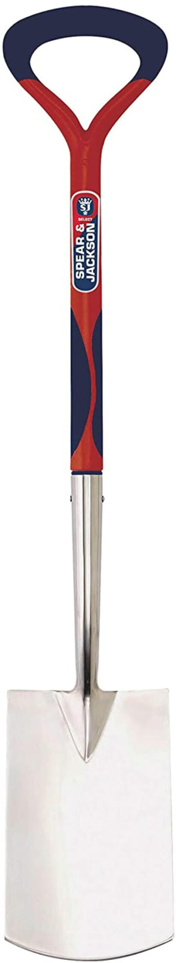 SPEAR & JACKSON Garden Spade - Stainless Steel Blade, Ergonomic Shaft & D-Handles SJ-1190EL