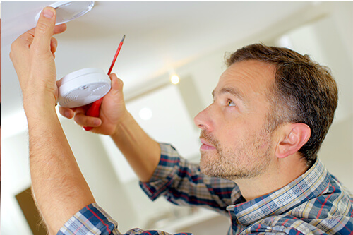 You should regularly clean out your fire alarms to remove any dust build-up which may cause an electrical fault