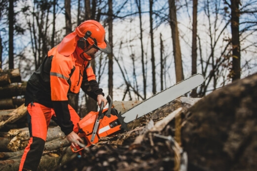 Chainsaws are incredibly dangerous tools and should be used with the utmost caution and care