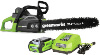 Greenworks 14-Inch 40V Cordless Chainsaw, 2.0 AH Battery