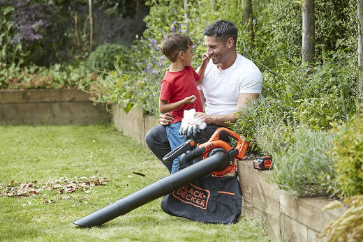 A leaf blower uses a motor or engine to create a jet of air that blows dust, leaves, twigs and more into piles for easy collection.