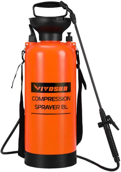 VIVOSUN 2 Gallon Garden Pump Pressure Sprayer