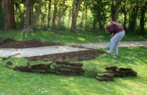 how to lay turf in your backyard