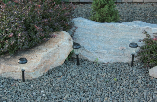 Rocks are a very eco-friendly option for green gardening