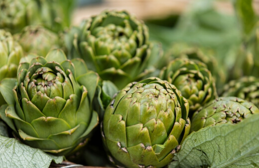 Artichokes are a really good source of vitamin C and fiber, so you would do well to make use of them whenever you can