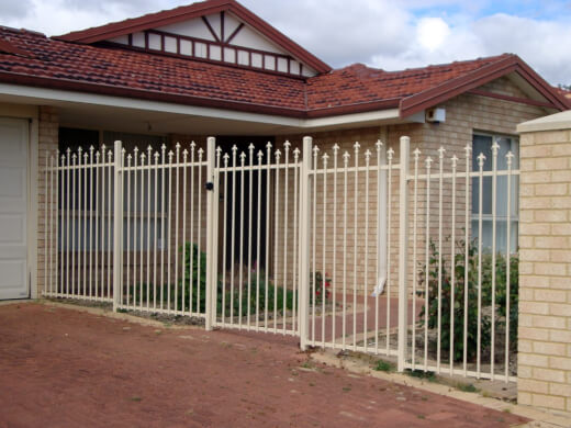 Tubular fencing is made from pre-galvanised steel and is welded with stainless steel to improve its durability
