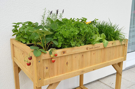 VegTrug 8 Pocket Herb Garden is ideal for a sunny balcony or patio, providing you with space to plant 8 of your favourite herbs or veggies