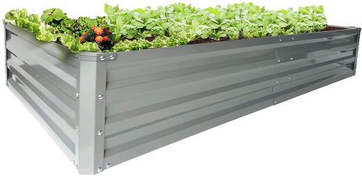 Zizin Galvanized Raised Garden Beds